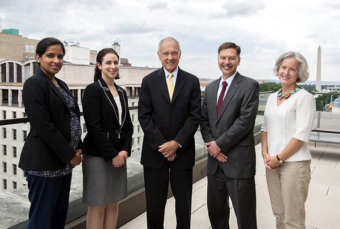 Attorneys Aiysha Hussain, Ann Sultan, Homer Moyer, Brian Hill, and Kitty Wach