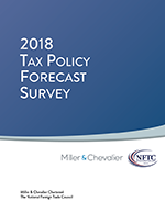 Cover of 2018 Tax Policy Forecast Survey - Click for Report