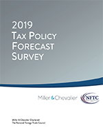 Cover of 2019 Tax Policy Forecast Survey - Click for Report